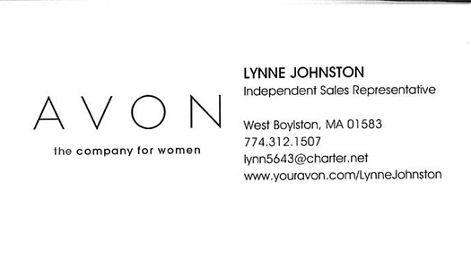 AvonBusinessCard- Lynne Johnston